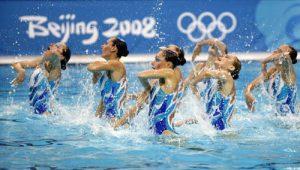 A equipa feminina russa conquistou a medalha de ouro na Natação Sincronizada